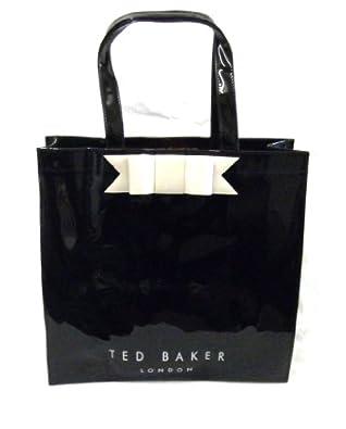 Ted Baker Large Black Vinyl Shopper Bow Ikon