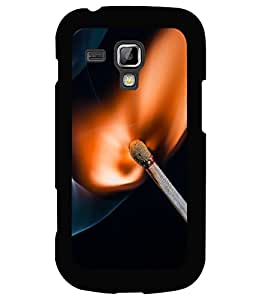 printtech Match Fire Macro Back Case Cover for Samsung Galaxy S Duos S7562