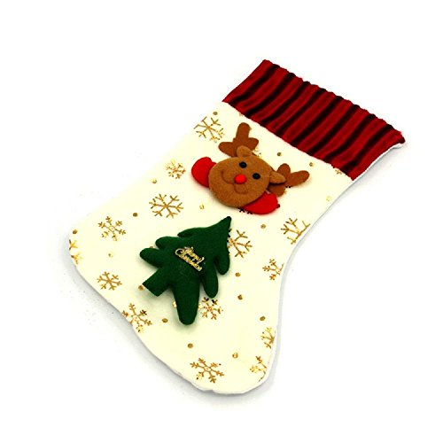 Large Christmas Gift Bag Christmas Decorative Gift Santa Claus Snowman Deer Stereo High Socks , deer
