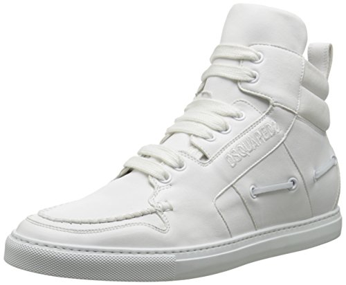 DSQUARED2 Men's Hi Top Capra Fashion Sneaker, Bianco, 43 EU/10 M US