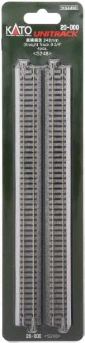 [해외] KATO N게이지 직선 선로 248MM 4개입 20-000 철도 모형 용품-20-000