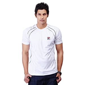 Fila Men T Shirts AS 11 TLM 283016 White blaclk