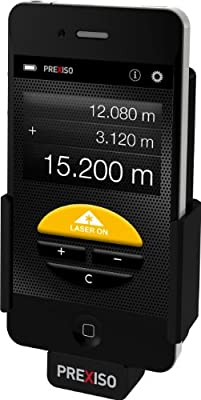 Prexiso iC4 Laser Distance Measuring Tool for iPhone 4/4S or 5 using your lightning adapter by Prexiso AG