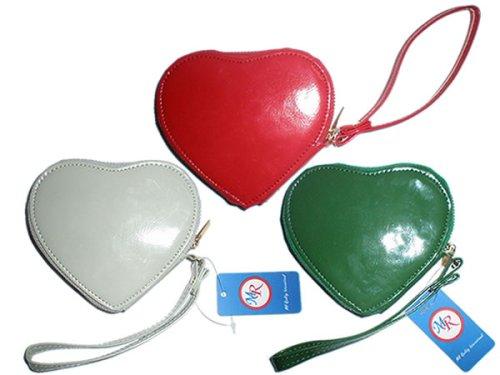 P83098 3pcs a lot Valentine's day gift pu heart shape coin purse bag handbag