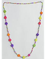 Multicolor Acrylic Bead Tibetan Necklace Set - Stone Beads