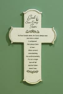 Abbey Press Memorial Tear Wall Cross with Gift Card - Inspiration Faith Blessing Spirit 47028-ABBEY