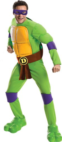 Men's Teenage Mutant Ninja Turtles Deluxe Muscle Chest Donatello - XL or Standard