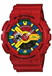 Casio G-Shock Men's Red Analog Digital Watch Ga-110Fc-1A