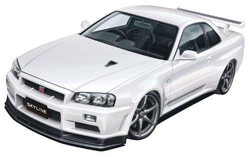 1/24プリペイントモデルシリーズNo.32R34 スカイライン GT-R V-SpecII ( ホワイト パール)