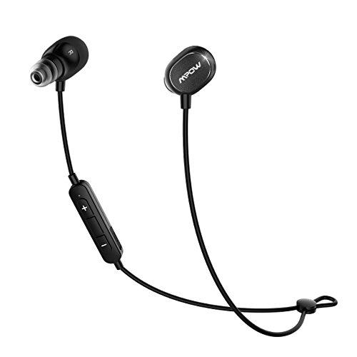 Mpow Dunmer スポーツイヤホン Bluetooth4.1ヘッドセット マイク内蔵 ハンズフリー 通話 AptX対応 iPhone&Android などに対応 IPX4防水仕様 CVC6.0 ノイズキャンセリング搭載技適認証済み18ケ月の保証 MP-BH035AB