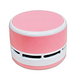 LBRNO Mini Wireless Desk Dust Vacuum Cleaner Table Decoration-Pink
