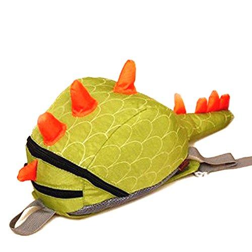 Deer Mum Children'S Backpack 3D Cute Little Dinosaur Schoolbag Toddler Kids Daypack (Green) front-895759