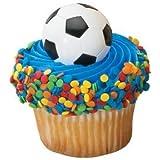 24 ct - Soccer Ball Cupcake Rings