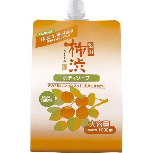 熊野油脂 薬用柿渋ボディソープ 詰替 1000ml