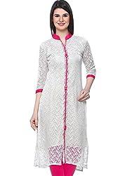 Madhuram Fabric Women's Kurti (KI-1010-{4}COLOR_Red_Pink_Blue_Creem( XL Size)