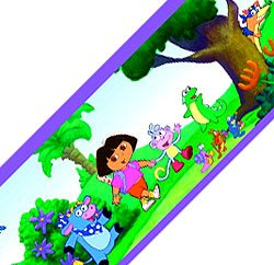 Brewster 147B02100 Brewster Dora Scenic Wall Border by Nickelodeon - 1