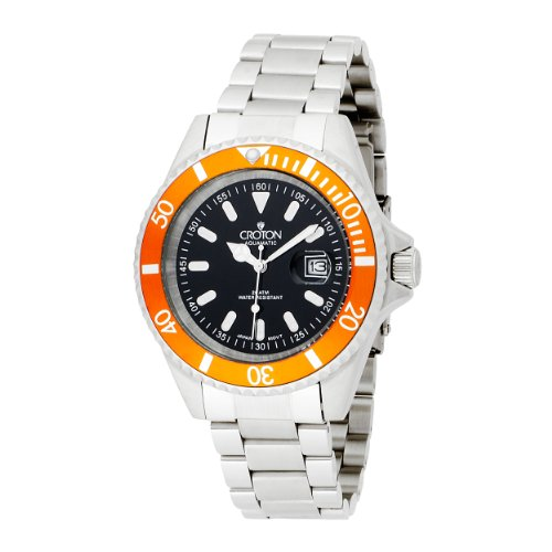 Croton Men's CA301157ORBK Stainless Steel Quartz Watch