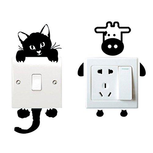 Joli-motif-Home-Superbe-Sticker-Prise-InterrupteurInterrupteurPrise-Dcoration-Dcoration-en-vinyle-pour-interrupteurprise-Art-