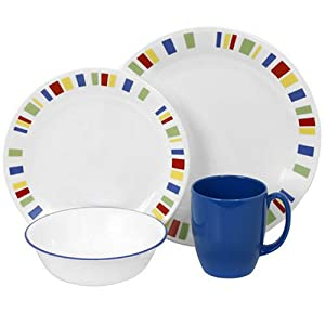 Corelle Livingware Memphis 16-Piece Dinnerware Set, Service for 4