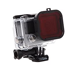 Luxebell Scuba Dive Red Filter for Gopro Hero 4 Black, Silver and Hero3+ Standard Housing - Blue Water