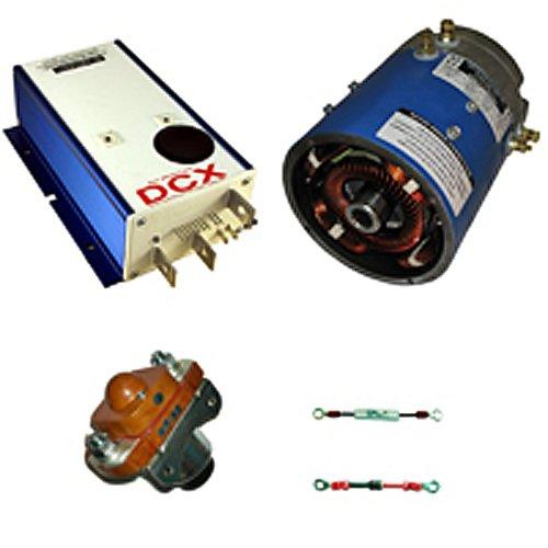 Golf Cart Kit - D&D 170-506-0002 Motor, Alltrax Dcx500 Controller & Accessories (Club Car Iq & Pd Plus)