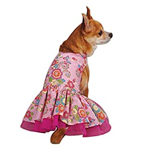 Zack & Zoey UM298 08 75 Spring Garden Dress for Dogs, XX-Small, Begonia Pink