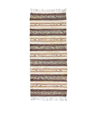 Handmade Rag Rug, Multi, 2' 4 x 5' 6