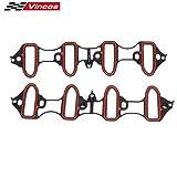 Vincos Intake Manifold Gasket Replacement For GMC Sierra Envoy Yukon HUMMER chevy silverado 1500 tahoe 5.3L 6.0L V8 OHV VIN V T MS98016T MIS16340 89060413 MS92211 MS18007 MS4657 MS16340