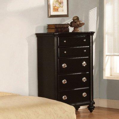 Distressed Black Dresser front-933455