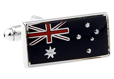 Australia Flag Australian Cufflinks with a Presentation Gift Box