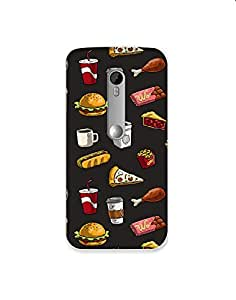 Motorola Moto X Style Fast-Food-pattern-01 Mobile Case (Limited Time Offers,Please Check the Details Below)