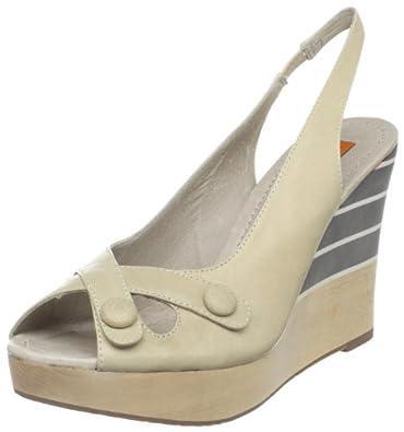 Miz Mooz Women's Karina Wedge Sandal,Ice,6.5 M US