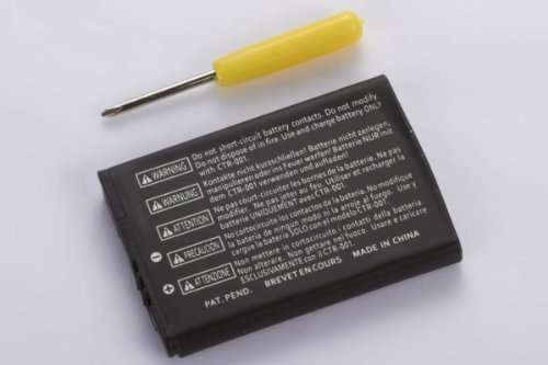 For Nintendo 3DS with Screwdriver - 3.7V 1300mAh Replacement Lithium Battery