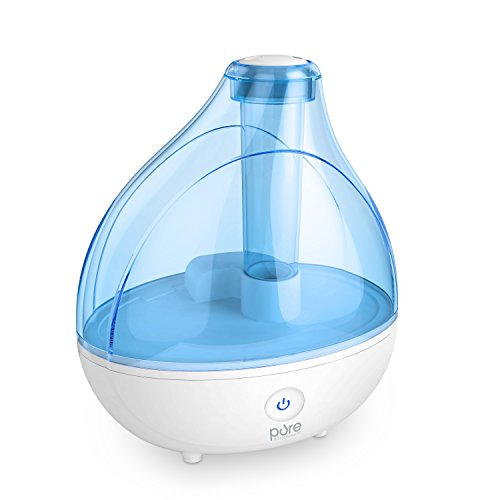 Ultrasonic Relaxed Mist Humidifier - Premium Humidifying Unit with Whisper-quiet Operation, Automatic Shut-off, and Night Beat Function