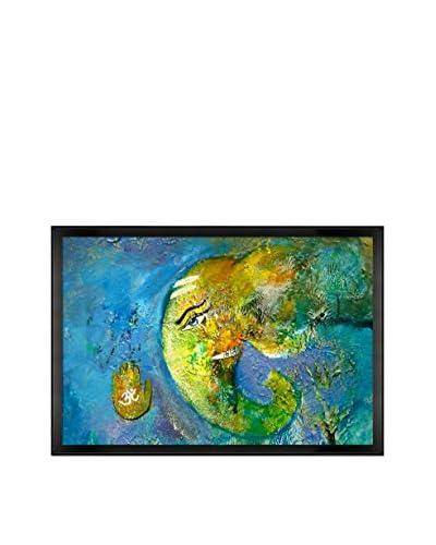 Sanjay Punekar Ganesha 7 Framed Canvas Print