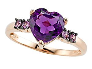 Genuine Amethyst Ring by Effy Collection 14kRose Gold Size 5.5