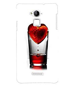 PRINTSHOPPII LOVE HEART Back Case Cover for Coolpad Note 3
