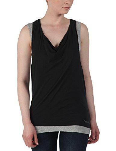 Bench - Tank Top Skinnie, Camicia di maternità Donna, Multicolore (Jet Black), Large (Taglia Produttore: Large)