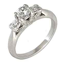 'Blank' Diamond Engagement Ring Setting 14k White Gold
