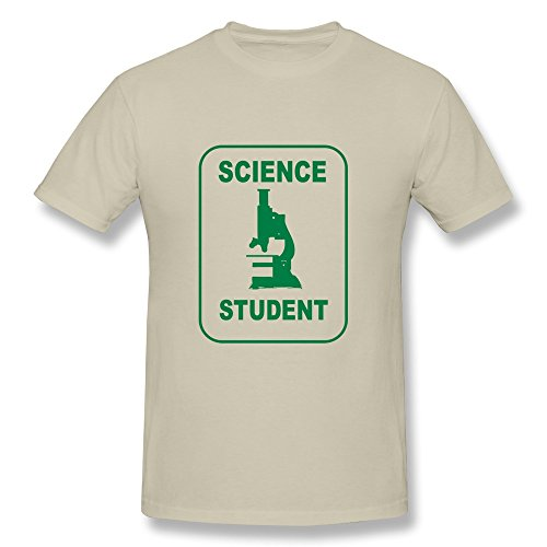 Nasy Men'S Science Student Microscope Cotton Short Sleeve T Shirt Xl Natural