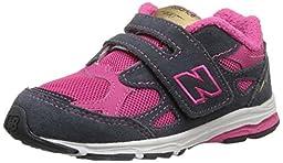New Balance KV990I Running Shoe (Infant/Toddler), Pink/Grey, 2 W US Infant