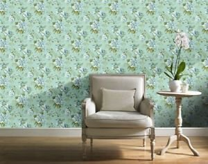 Gran Deco Bouquet Wallpaper - Blue by New A-Brend