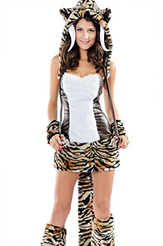 Pink Queen Halloween Womens Animal Tiger Costume Complete Set Cute Halloween Costumes