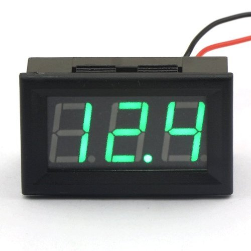 Smakn® 2 Wire Green Dc 3.5-30V Led Panel Digital Display Voltage Meter Voltmeter Automatically Adjust The Precision
