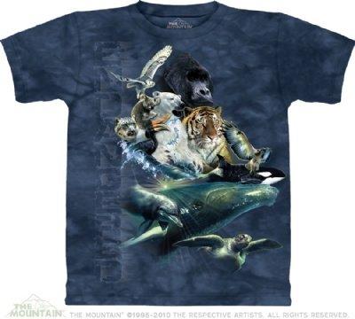 Endangered Animals The Mountain T Shirt LARGE