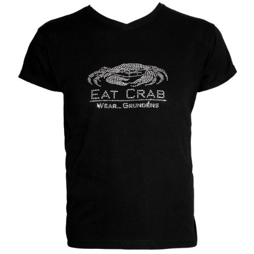 Grundens Eat Crab Bling T-Shirt - Small, Black
