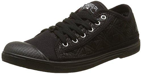 Le Temps des CerisesBasic 02 - Sneaker Donna , Nero (Noir (Matelasse Black)), 40