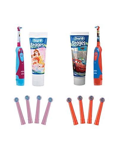 PACK ORALB + PRODENTAL Cepillo Dental Eléctrico 12 Piezas Duo Stages Power Kids