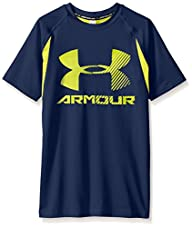 UA Boys HeatGear Armour Up Digi Fitted