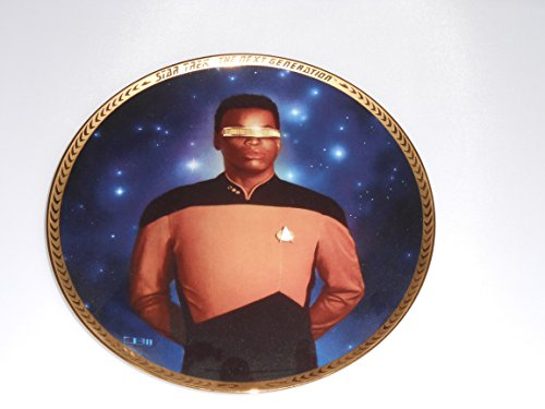 Lt. Cmdr. Geordi LaForge Star Trek, The Next Generation Collector Plate